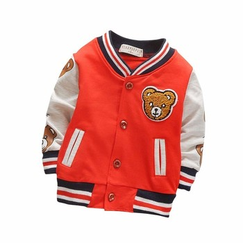 Children Girls Clothes Kids Baseball Infant Sweatershirt Toddler Fashion Brand Jacket New Spring Autumn Baby Outwear Boys Coat 2018 new style toddler baby girls winter down coat infants kids cotton jacket outwear kids clothes children clothing 10 12 years