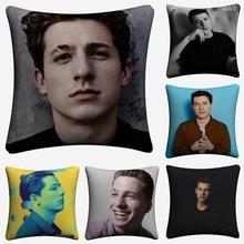 Charlie Puth Main Press Decorative Linen Cushion Cover Pillow Case For Sofa 45x45cm Home Decor Throw Pillowcase Almofada