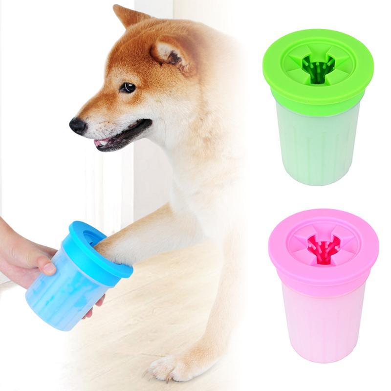 Dog Foot Cleaner Soft Gentle Silicone Portable Pet Foot Washer Cup Paw Clean Brush Pet Indoor Outdoor Quickly Cleaning in Dog Accessories from Home Garden