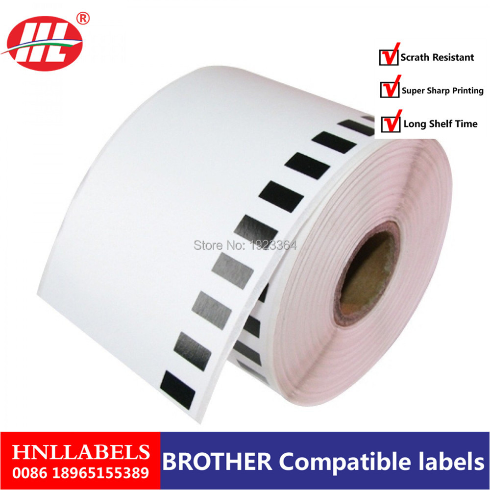 4X Rolls DK-22205 Brother Compatible Labels, 62mm X 30.48m, DK 22205, DK 2205 Continuous Paper Thermal Labels Barcode Sticker