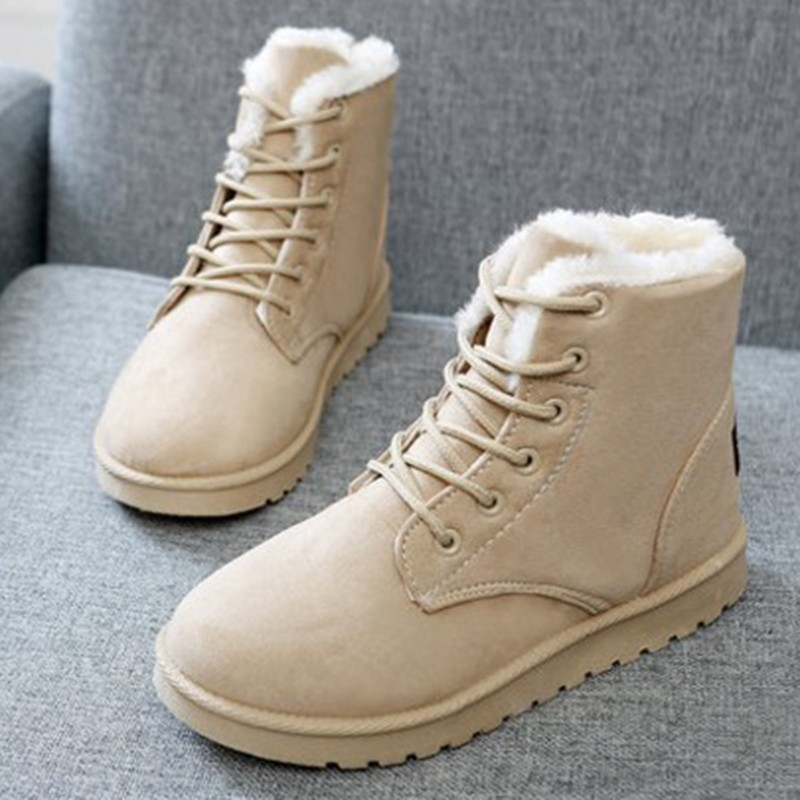 2018 Classic Winter Boots Suede Ankle Snow Boots Warm Female Fashion Women Shoes New Arrival Plush Insole Snow Botas JA0002 цена