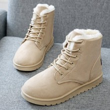 2018 Classic Winter Boots Suede Ankle Snow Boots Warm Female Fashion Women Shoes New Arrival Plush Insole Snow Botas JA0002