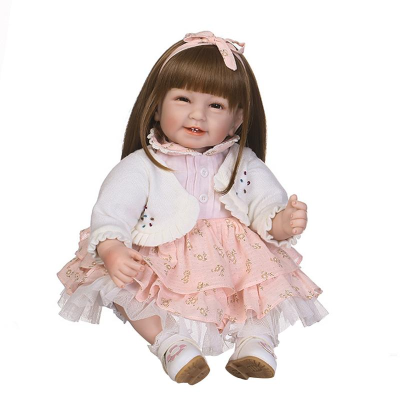 55cm/22inch Handmade Sleeping Toddler Reborn Girl Body Dolls Newborn Baby Toys55cm/22inch Handmade Sleeping Toddler Reborn Girl Body Dolls Newborn Baby Toys