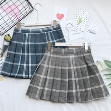 2019 New Style School Uniform Skirt Korean College Wind High Waist Plaid Fashion Elegant Pleated