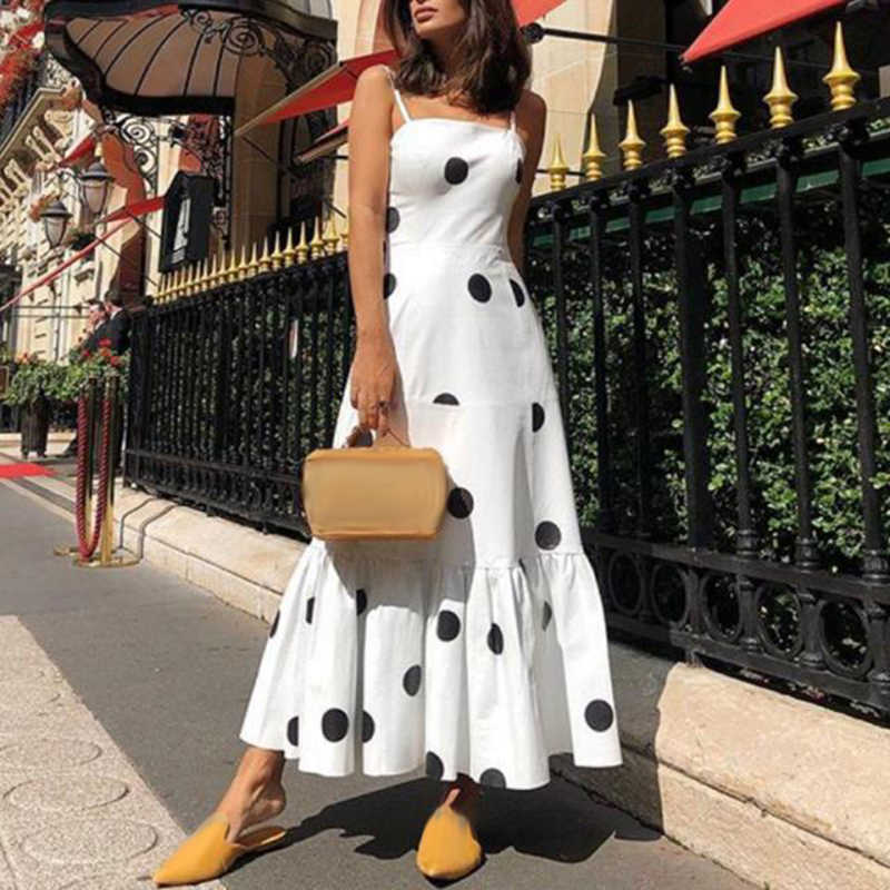 Женское сексуальное платье длинное платье фитнес коктейльное кружевное модное Черное женское платье на бретельках для вечерние в горошек Пояс-качели платья праздничная одежда