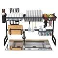 Acero inoxidable cocina fregadero estante organizador de platos utensilios de almacenamiento