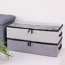 Under The Bed Square With Handle Shoe Clothes Dorm Zipper PP Board Organizer Storage Box Breathable Space Saver