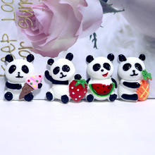 Cute Panda Crystal Slime Fruit DIY Resin Accessories Craft Antistress Kids Toys for Christmas gifts