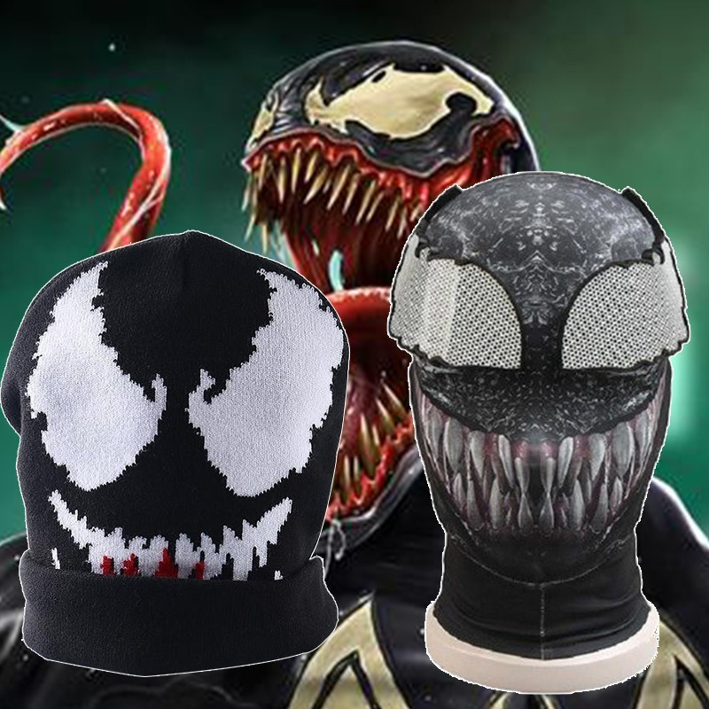 Movie Captain Marvel Costume Venom Carnival Edward Eddie Brock Adult Halloween Only Hat 3D Print Spandex Baseball Snapback
