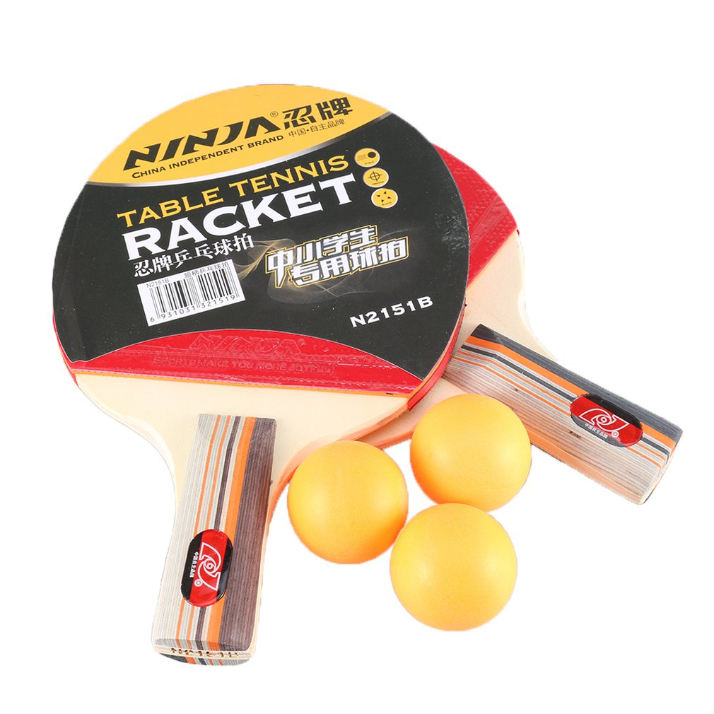 New Star Product Of Table Tennis Racket Ping Pong Paddle Set Training Table Tennis Racket With 3 Balls For Sports