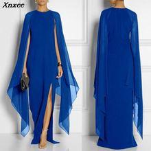 Xnxee Long Dress Women 2019 New Arrival Batwing Sleeve Fashion Chiffon Dresses Sexy Vestidos Elegant Vestido De Festa S-XXL