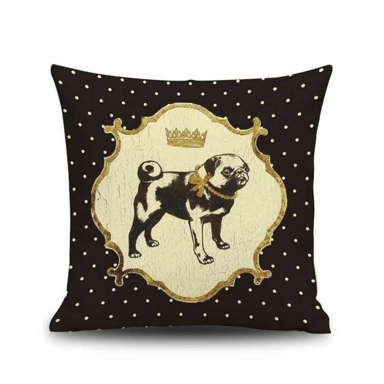 Vintage Cucciolo Animali cane cuscino del divano 45x45 cm decorativo cuscini di cotone di tela federa bambino soggiorno cuscini per la casa decor