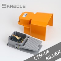 LTH 1/6 Foot Switch Aluminum Shell Machine Tool Parts Silver Point Electrical Power Industrial Reset pedal switch