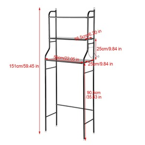 Image 2 - 3 Tier Iron Toilet Towel Storage Rack  Over Bathroom Shelf Organizer for Store Shampoo / Towel etc Accessory High Quality hot