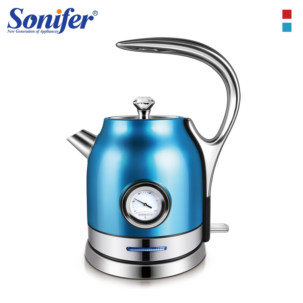 1.8L Colorful Stainless Electric Kettle With Water Temperature Control Meter Household Kitchen Quick Heating Tea Pot Sonifer