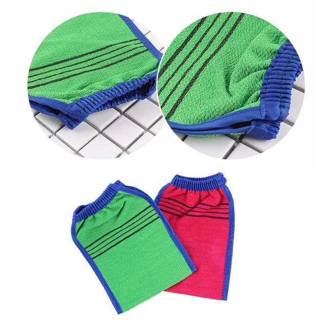 4 Pcs Scrub Glove Exfoliator Body Exfoliating Spa Deep Cleansing Double Sided Glove Mitt for Men Women 4