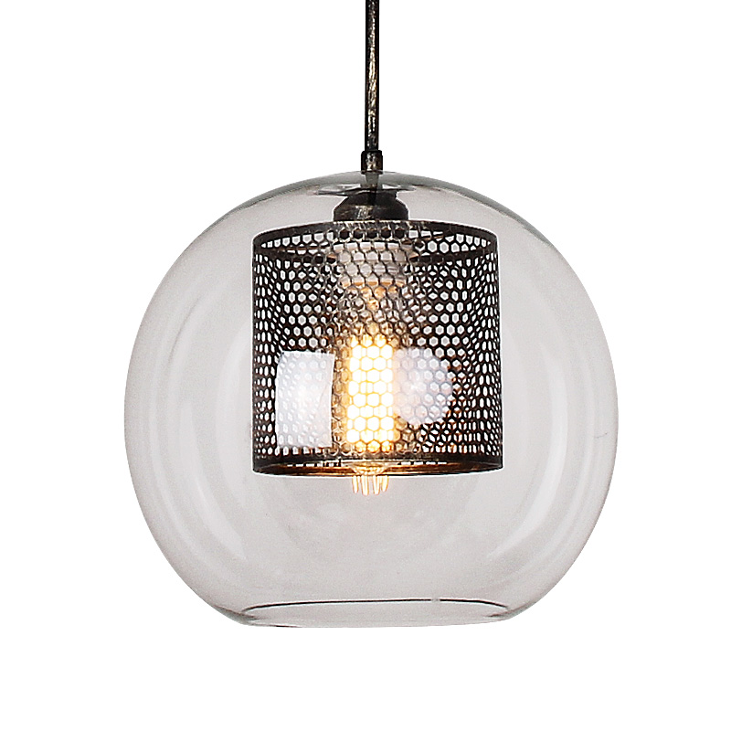 Nordic Glass Pendant Lamps American Loft Industrial Kitchen Dining Bar Pendant Lights Living Room Study Lighting Fixtures Avize in Pendant Lights from Lights Lighting