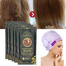 5pcs Aliver Automatic Repair Heating Steam Hair Mask Smoothing Moisturizing Oil For Hair Treatment Dry Pure Scalp Hair Care Mask