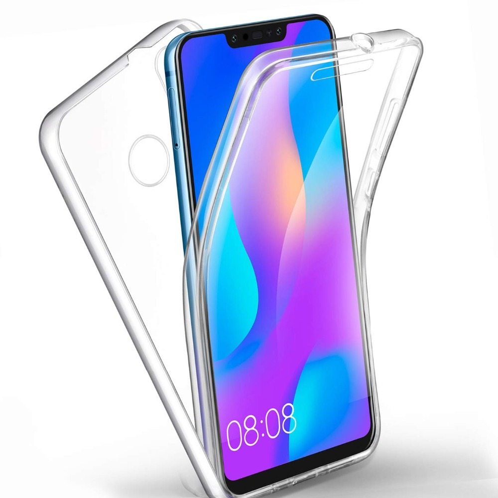 Hybrid <font><b>360</b></font> Degree <font><b>Case</b></font> Full Cover for <font><b>Huawei</b></font> Mate 20 10 Lite P20 P30 Pro P Smart Y5 Y7 Y8 <font><b>Y9</b></font> <font><b>2019</b></font> Honor 20 9X 8X Soft TPU Cover image