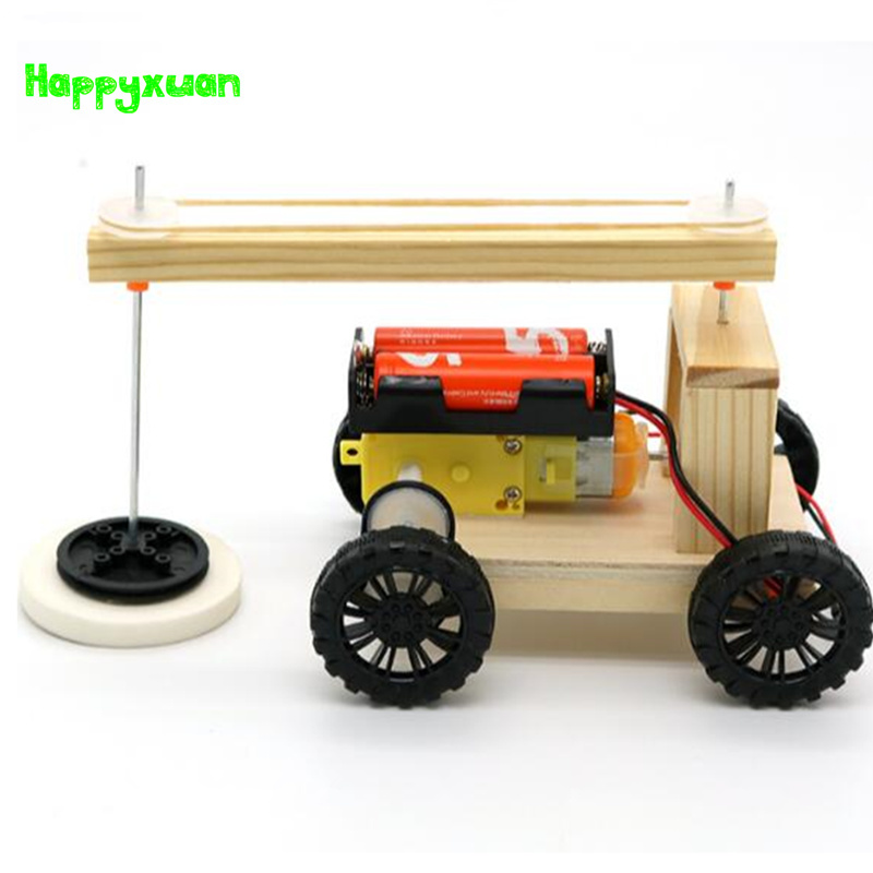Happyxuan DIY Electric Sweeping Robot Model Physical Science Experiment Invention Children Creative Educational Toys for Boys 2018 new outdoor game style children s science experiment stem science education science educational toys 7 in 1 detective glove