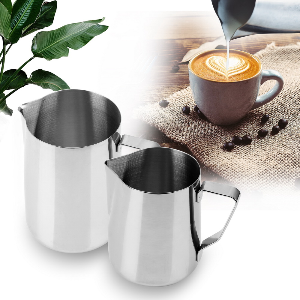 Barista:  Coffee Pitcher Barista Craft Coffee Latte Pitcher Stainless Steel Milk frothing Jug Espresso Pull Flower Cup Coffeeware - Martin's & Co