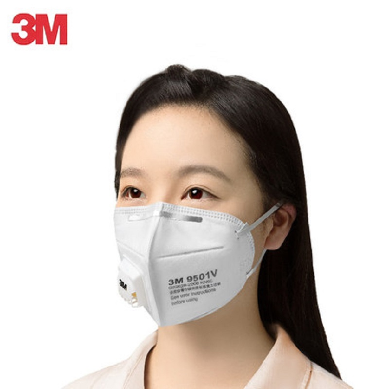 5/10pcs 3M N95 9501V/9502V Dust Mask Protective Anti-PM 2.5 Fog Mask Safety Influenza Riding Respirator Anti-particles Filter