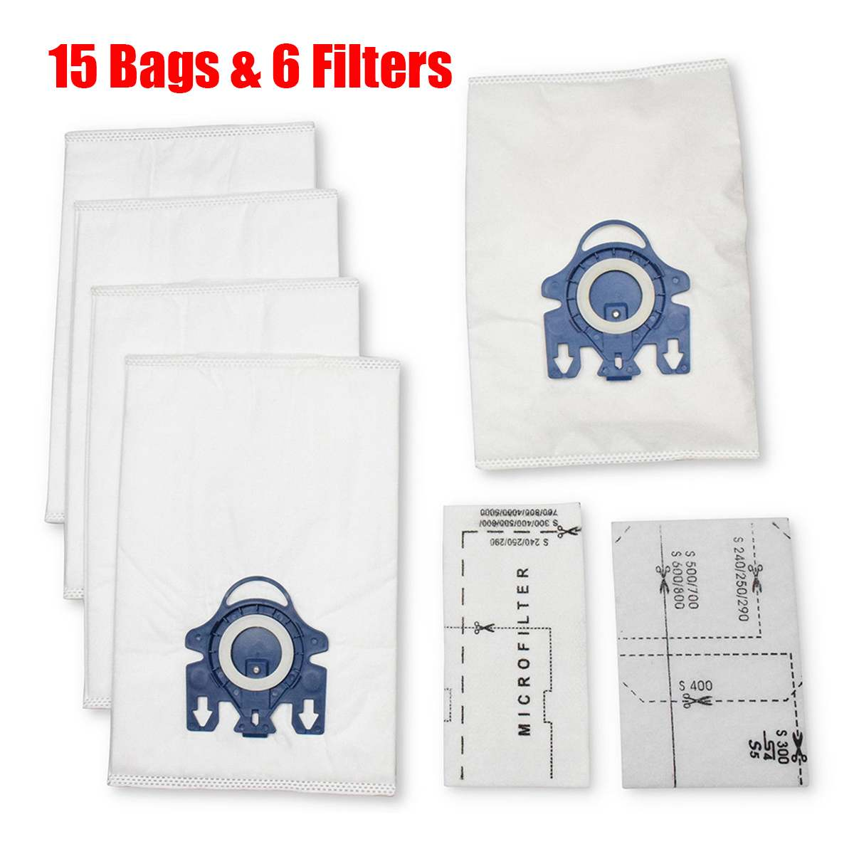 15Pcs/Set Air Vacuum Cleaner Dust Bags Filter Kit Home Dust Collector Aspirator Replacemnt Parts For Miele GN S2 S5 S8 S600 658