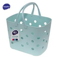 Howfun Storage Baskets with Handle, Eco friendly plastic basket for bathroom kitchen, rangement salle de bain 2 color optional