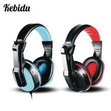 Kebidu Wired Stereo Headset with Mic Full range Music headset Gaming Headphones 3.5mm Universal PC Headset Earphone For Phone