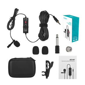Image 5 - Andoer Lavalier Microfoon voor DSLR Camera Camcorder Audio Recorder Omni directionele Condensator Microfoon met Schuim Voorruit