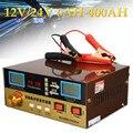 Cargador de batería automático de coche de pulso inteligente tipo de reparación 110 V-250 V 12 V/24 V 6AH-400AH protección contra cortocircuito de sobrecalentamiento