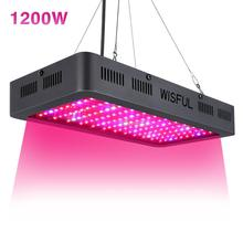 Led Grow Light Full Spectrum 1200W with Double Chips Growing Lamps for Indoor Greenhouse Plants Growth Flowrering Fruiting 2pcs lot 1000w double chips led grow lights full spectrum growing lamps for greenhouse hydroponics systems free shipping