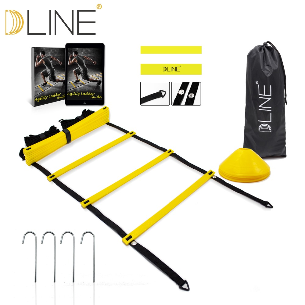 Durable 12 rung 16.5 Feet 5M Agility Ladder for Soccer Speed Training with Carry Bag Outdoor  Fitness Equipment