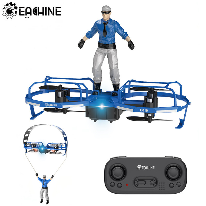 Eachine E019 2-Axis RC Stunt Paraglider Flight Mode Altitude Hold Mode Drone Mini Quadcopter RTFEachine E019 2-Axis RC Stunt Paraglider Flight Mode Altitude Hold Mode Drone Mini Quadcopter RTF