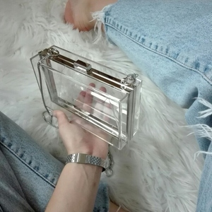 Acrylic Transparent Clutch Cha