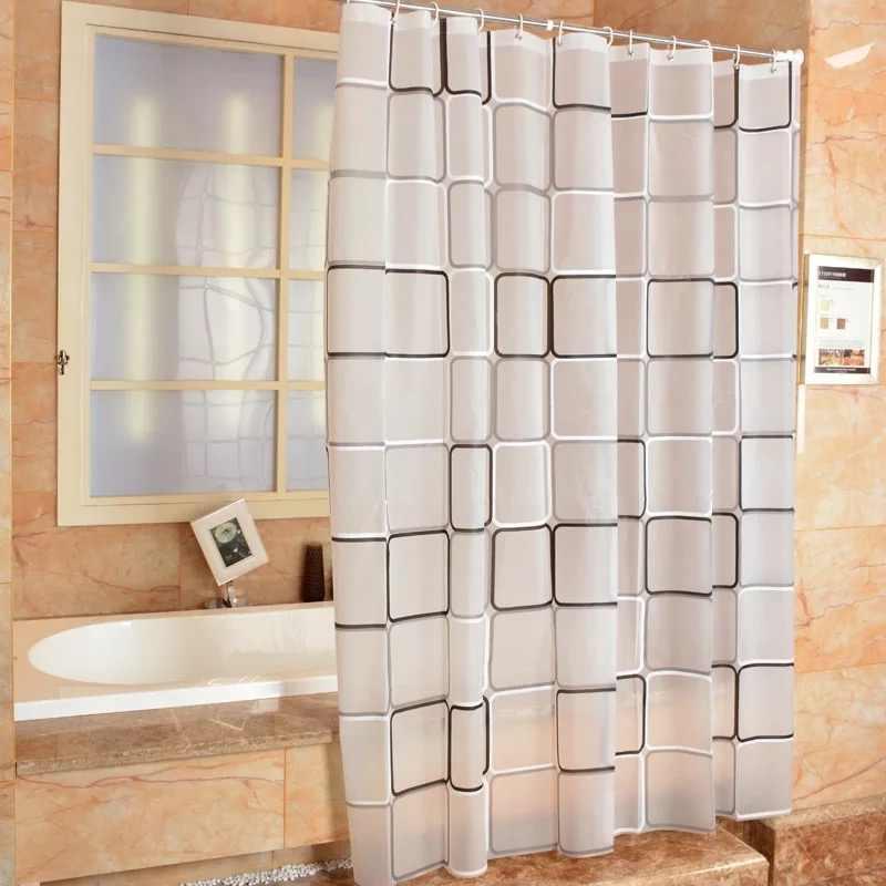 De badkamer douchegordijn geruite PEVA Milieu wc deur gordijn douchegordijnen Waterdicht en schimmel thickening5