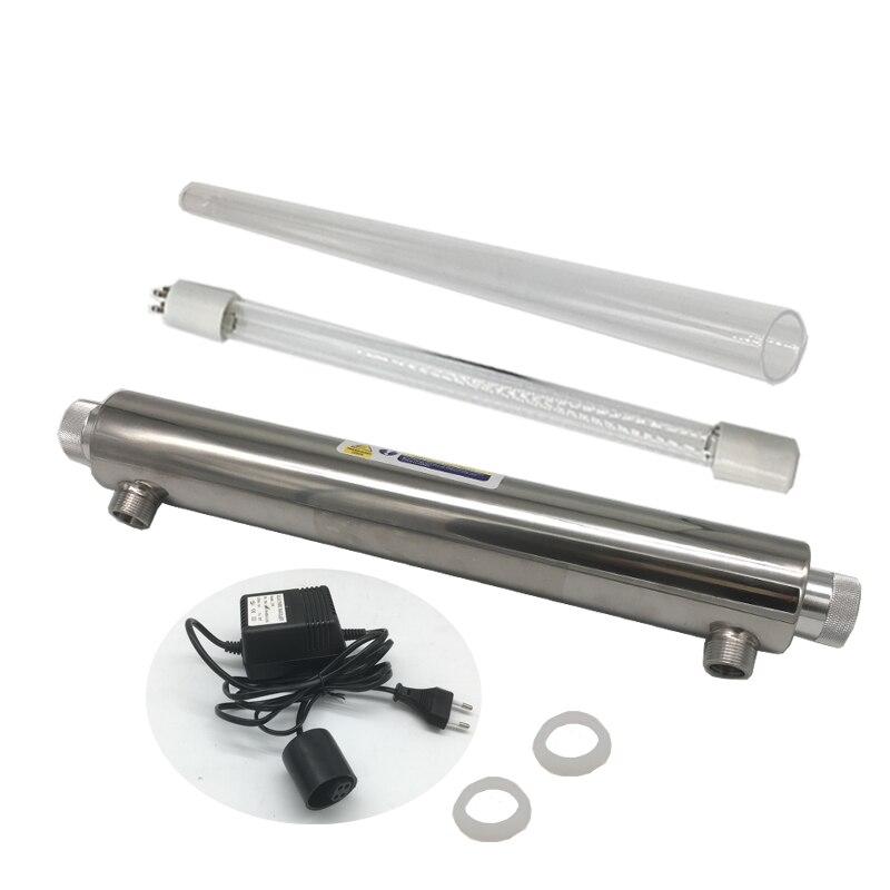 6GPM ampoule ultraviolette lampe à lumière ultraviolette UV désinfecter la lumière pour l'eau stérilisateur UV