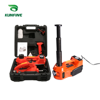 12V 5Ton Car Electric Tire Lifting Car Jacks Hydraulic Air Infatable Car Floor Jack With Impact Wrench And Tire Gauge Air Pump