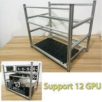LEORY Open Air Ферма для майнинга не стекируемые рамки чехол для 12 GPU ETH BTC эфириума новый компьютер добыча рамки сервер шасси