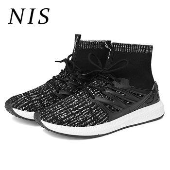 9a9bb1f0 NIS легкий высокие носки Повседневная обувь мужские кроссовки обувь  Спортивная мужские вулканические туфли с сеточкой, спортивный, из дышащ.