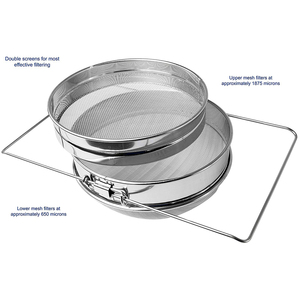 Image 4 - Stainless Steel Double layer Honey Sieve Filtration Bee Honey Filter Strainer Machine Tool Extractor Beekeeping Tools