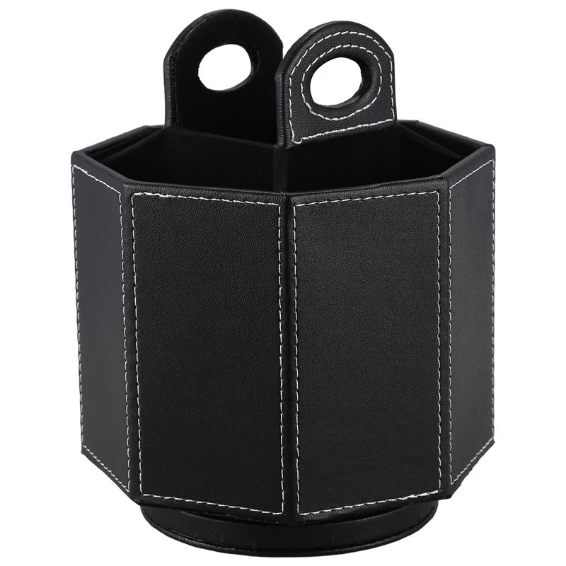 PU Leather Rotatable Remote Control Holder Storage box for TV Remote Phone EyeglassesPU Leather Rotatable Remote Control Holder Storage box for TV Remote Phone Eyeglasses