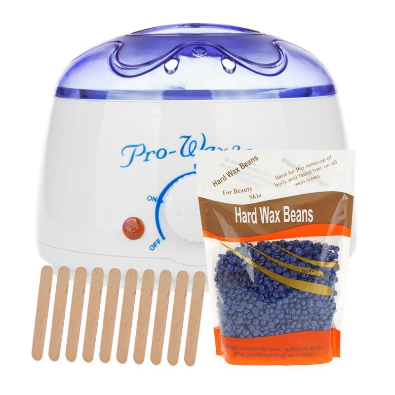200cc Paraffin Hand Wax Machine Hot Paraffin Wax Warmer Heater Body Depilatory Electric Salon Spa Hair Removal Tool +100g Wax
