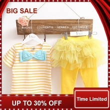 Cute Baby Kid Girl Tops Tee Shirt+Tulle Tutu Pant Skirt 2pcs Outfit Suit цена