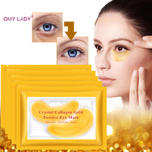 OMY LADY Hyaluronic Acid Gold Masks Crystal Collagen Eye Mask Anti-Wrinkle Eye Patches For The Eye Face Mask Remove Black Care efero collagen eye mask gel eye patches face care sheet masks wrinkle eyes bags remover dark circles for face mask eye mask 60pc
