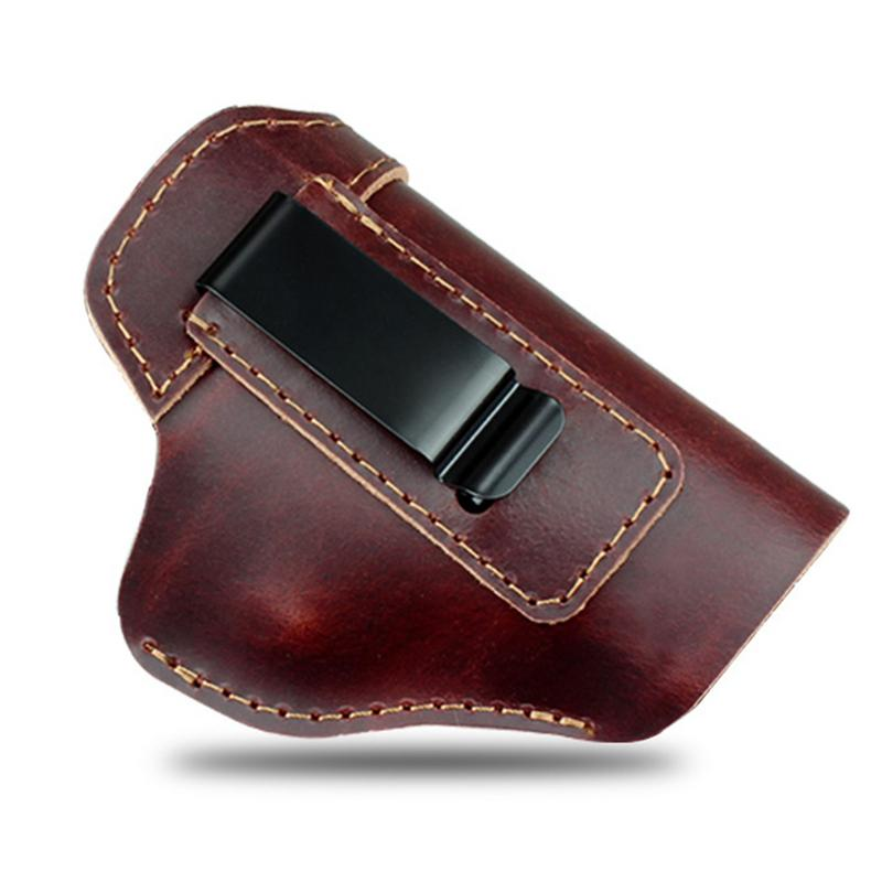 Concealed Leather Holster Carry Holster For Sig Sauer P226 SP2022 P229 <font><b>P250</b></font> Glock 17 19 43 Beretta 92 Holster Accessorie image