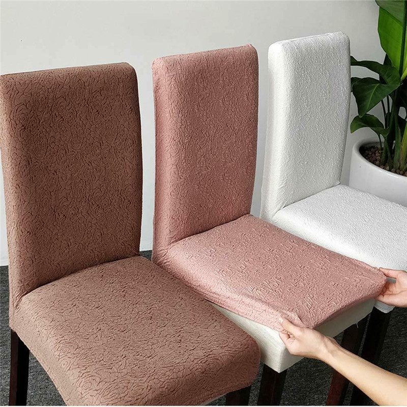 Brand New Contracted Pure Color Spandex Stretch Chair Covers Party Wedding Chair Decoration Dining Room Chair Covers