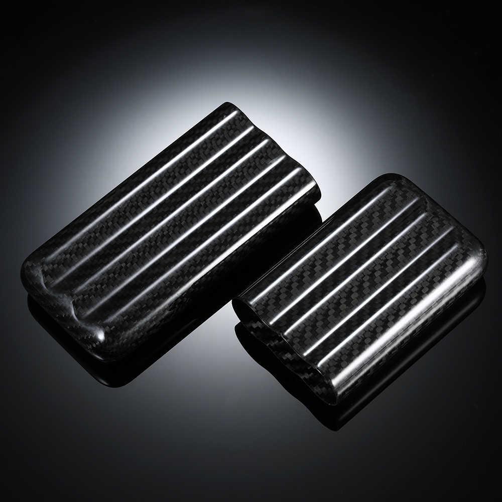 Черный карбоновый чехол 3-Cigar легкая шкатулка хранения для сигарет держатель трубки дорожный увлажнитель для сигар для до 57 колец датчик сигар