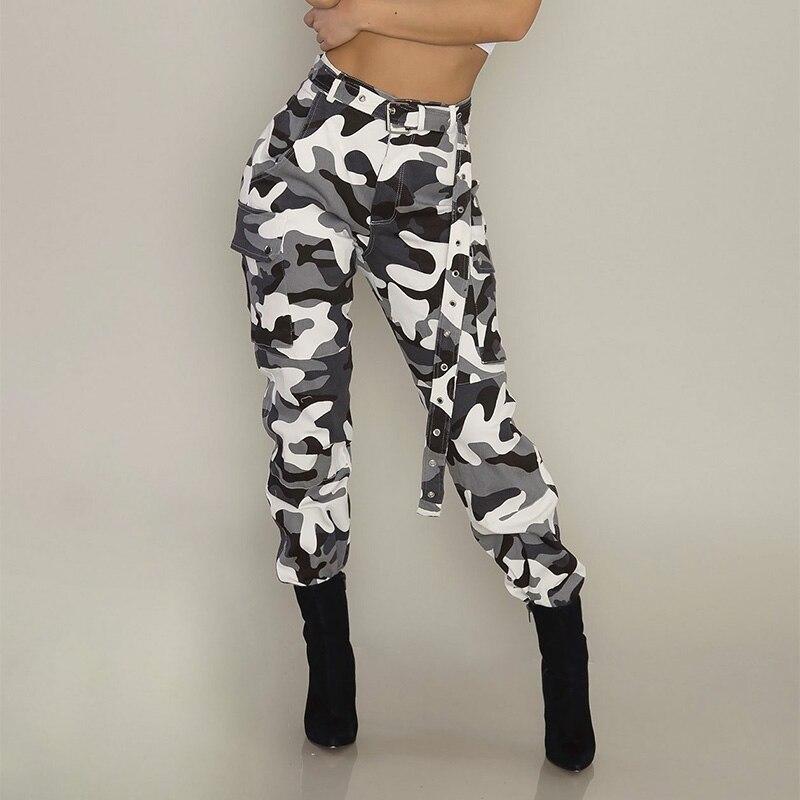 Fashion Women Military Camouflage Harem Pants Femme Trouser Casual Sweatpants Spring Streetwear Cargo Overalls Workout Pantalon