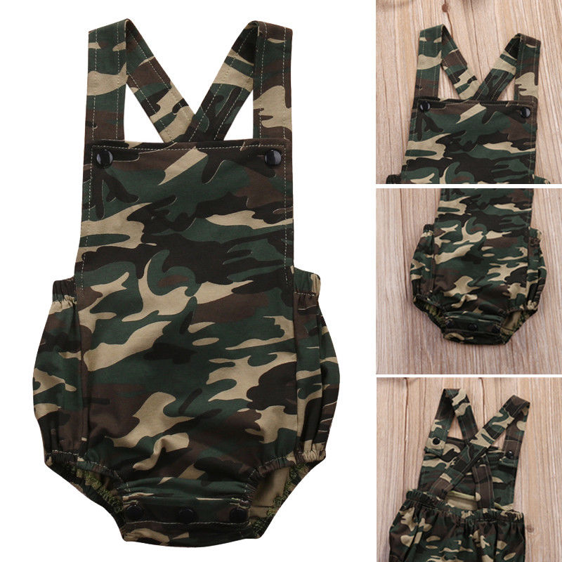 Pudcoco Babys Jumpsuits 0M-18M Summer Newborn Baby Boys Girls Romper Jumpsuit Backless Sleeveles Clothes Outfit